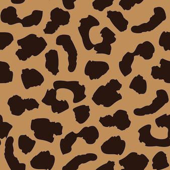Padrão sem emenda de pele de leopardo. repetição de textura de gato selvagem. papel de parede de pele de animal abstrato. conceito de design moderno de tecido têxtil