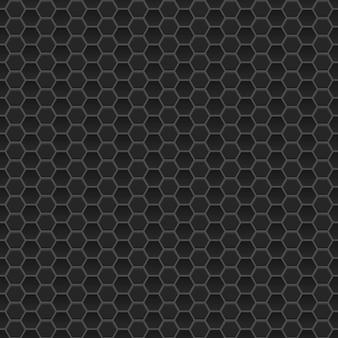 Padrão sem emenda de pequenos hexágonos em cores pretas