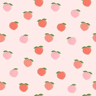Padrão sem emenda de pêssego rosa
