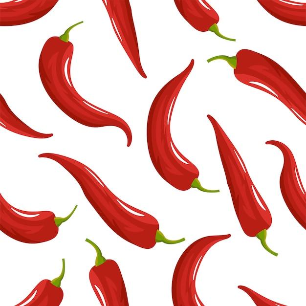 Padrão sem emenda de pimenta vermelha