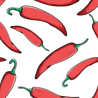 Padrão sem emenda de pimenta