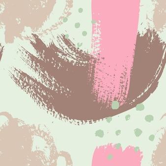 Padrão sem emenda de pinceladas. fundo colorido abstrato de grunge para impressão de cartaz, folheto, cartão, impressão, têxtil, capa. design moderno e minimalista nas cores rosa e menta.