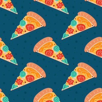 Padrão sem emenda de pizza saborosa
