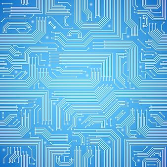 Padrão sem emenda de placa de circuito