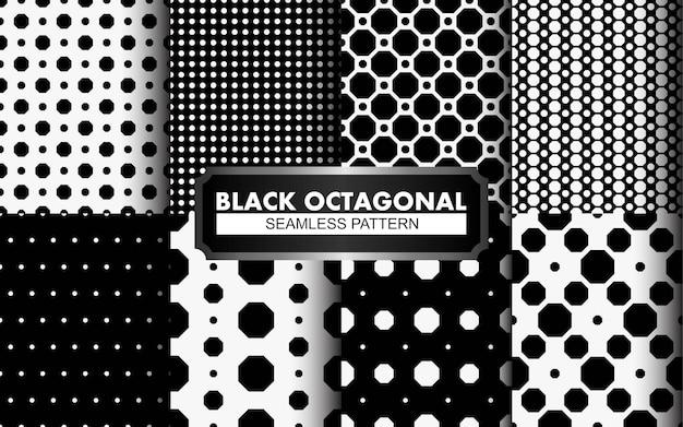 Padrão sem emenda de polkadot preto e branco