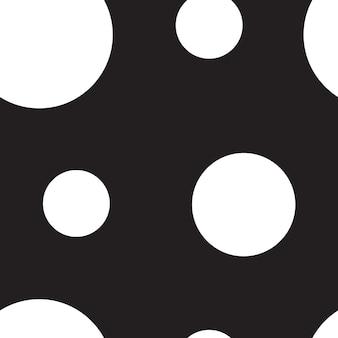 Padrão sem emenda de ponto branco grande em fundo preto, design têxtil de polca, ornamento abstrato para vestido de bolinhas de tendência, papel de parede, design, tecido e etc.