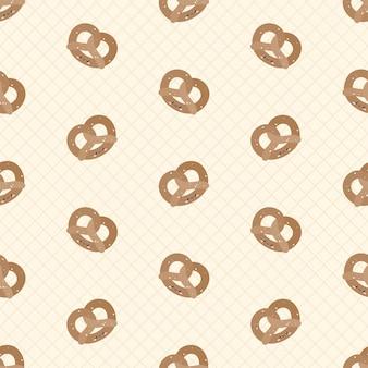 Padrão sem emenda de pretzels fofos
