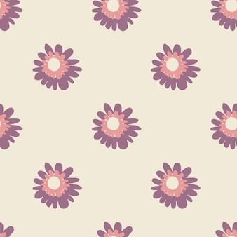 Padrão sem emenda de primavera nas cores roxas e lilás. tons pastel.