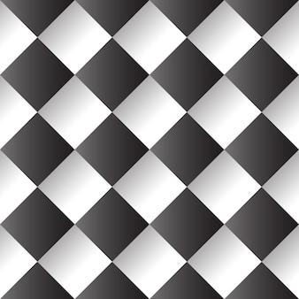 Padrão sem emenda de quadrados preto e branco.