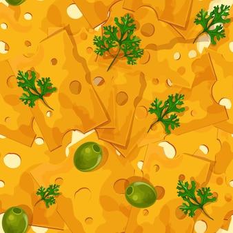 Padrão sem emenda de queijo