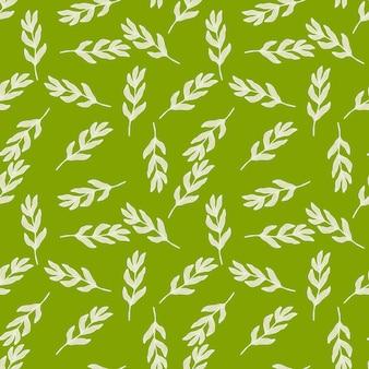 Padrão sem emenda de ramo bonito. fundo de folha de arte abstrata. papel de parede da natureza. para desenho de tecido, impressão têxtil, embalagem, capa. ilustração vetorial simples.