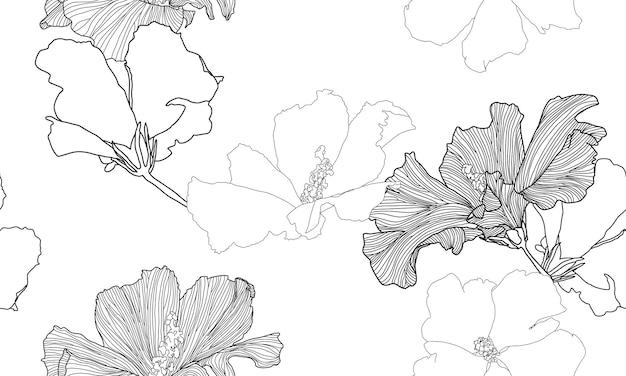Padrão sem emenda de repetição tropical de vetor plantas exóticas abstratas