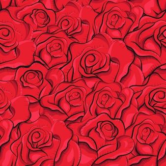 Padrão sem emenda de rosas vintage