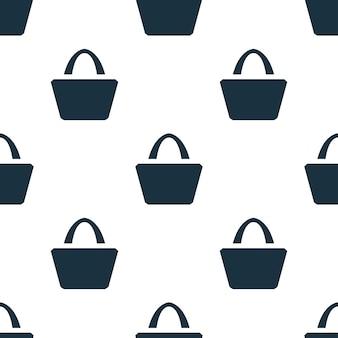 Padrão sem emenda de saco. fundo do conceito de saco criativo. saco de textura de ícone simples da coleção de acessórios