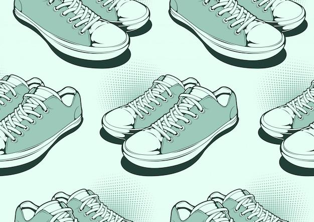 Padrão sem emenda de sapatos