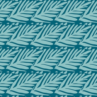 Padrão sem emenda de selva. planta exótica. padrão tropical, folhas de palmeira de fundo floral vetor sem emenda.