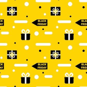 Padrão sem emenda de sexta-feira negra fundo infinito em pano de fundo amarelo