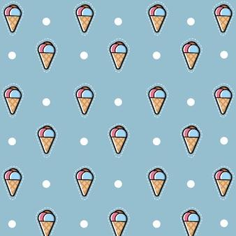 Padrão sem emenda de sorvete