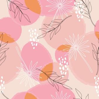 Padrão sem emenda de superfície floral abstrato