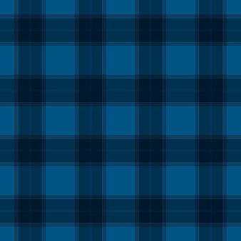 Padrão sem emenda de tartan azul colorido têxtil
