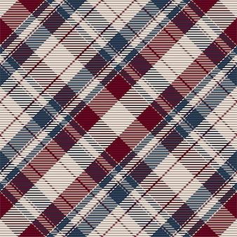 Padrão sem emenda de tartan. tecido retrô. textura geométrica vintage. têxtil estampado diagonal