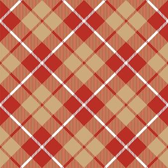 Padrão sem emenda de tartan xadrez têxtil