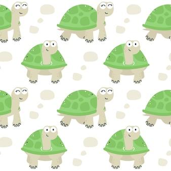 Padrão sem emenda de tartarugas
