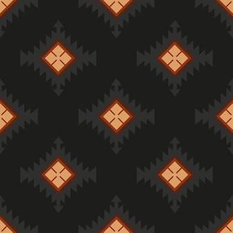 Padrão sem emenda de têxteis folclóricos ornamentais
