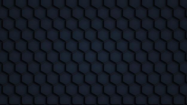 Padrão sem emenda de textura de papel poligonal preto