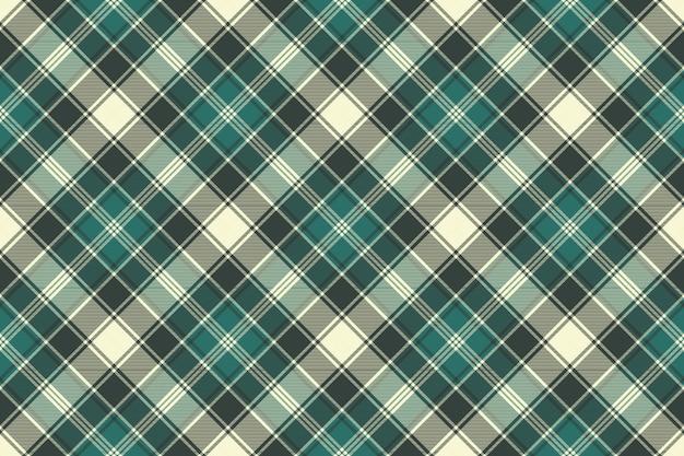 Padrão sem emenda de textura de tecido xadrez verde