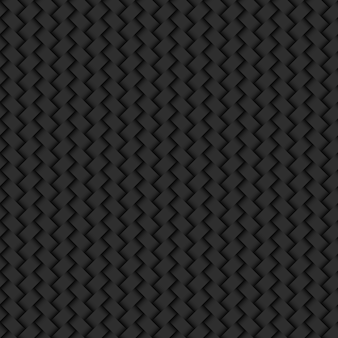 Padrão sem emenda de textura de vime abstrato de fundo preto