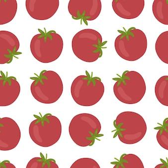 Padrão sem emenda de tomate isolado no fundo branco