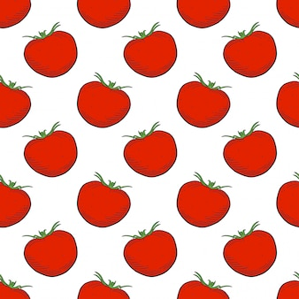 Padrão sem emenda de tomate maduro
