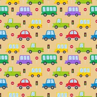 Padrão sem emenda de transporte colorido