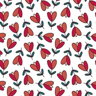 Padrão sem emenda de tulipas