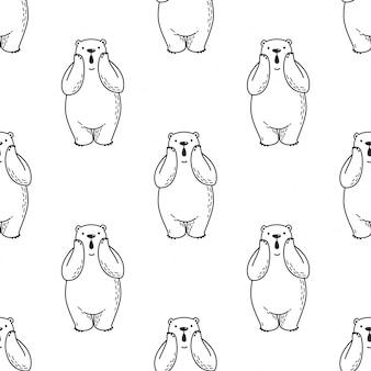 Padrão sem emenda de urso polar