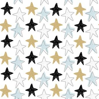 Padrão sem emenda de vetor com estrelas do mar