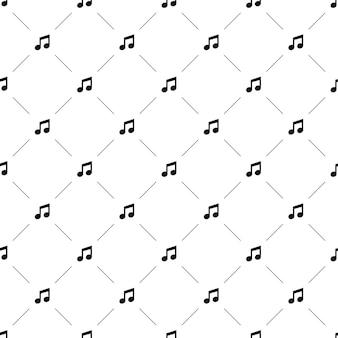 Padrão sem emenda de vetor, música, editável pode ser usado para planos de fundo de página da web, preenchimentos de padrão