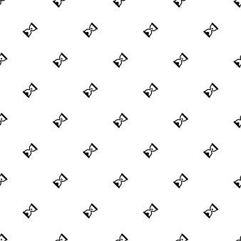Padrão sem emenda de vetor, relógio de areia, editável pode ser usado para planos de fundo de página da web, preenchimentos de padrão