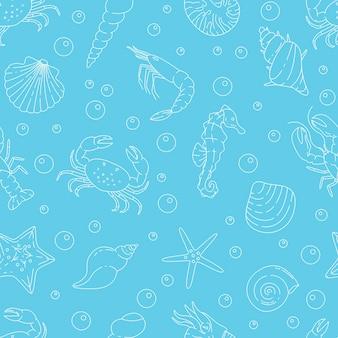 Padrão sem emenda de vida marinha subaquática