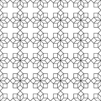 Padrão sem emenda delicado com flores geométricas em estilo árabe