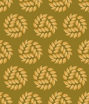 Padrão sem emenda desenhado à mão com folhas de outono ilustração sazonal colorida para papel e embalagem