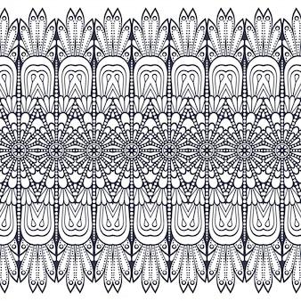 Padrão sem emenda. desenhado à mão . islã, árabe