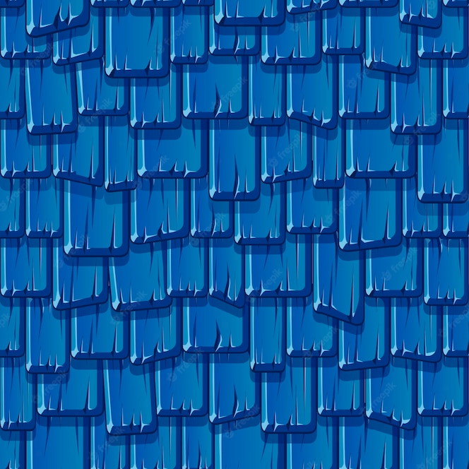 padrão sem emenda do antigo telhado azul de madeira. telhado vintage texturizado.
