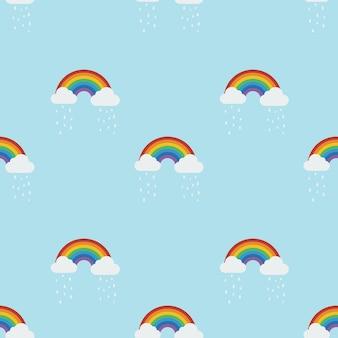 Padrão sem emenda do arco-íris