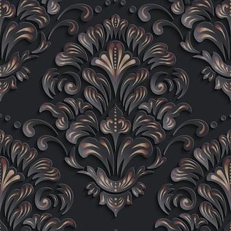Padrão sem emenda do damasco ornamental