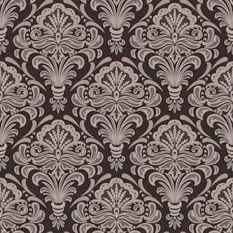 Padrão sem emenda do damasco. ornamento clássico de luxo à moda antiga em damasco