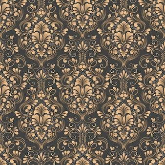 Padrão sem emenda do damasco. textura de luxo elegante