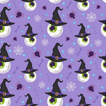Padrão sem emenda do globo ocular de halloween