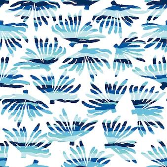 Padrão sem emenda do mar com texturas desenhadas à mão.